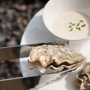 huîtres de normandie, sauce au camembert