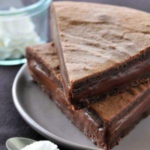 fondant au chocolat, châtaigne et chantilly