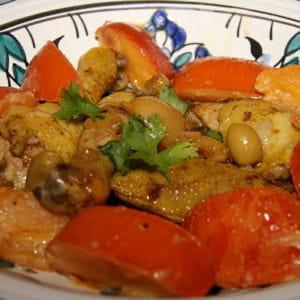 tajine de poulet marocain aux kaki persimon