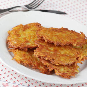 scallions crispy potato onion and mushroom rosti rosti style potato ...