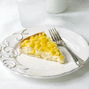 tarte ananas sur crème chocolat blanc-coco-passion