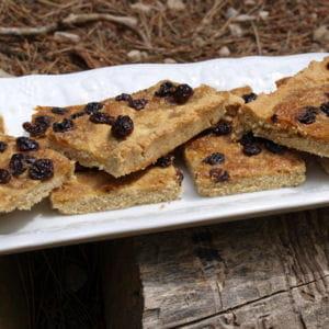 tarte au sucre, au rhum et aux raisins sans gluten