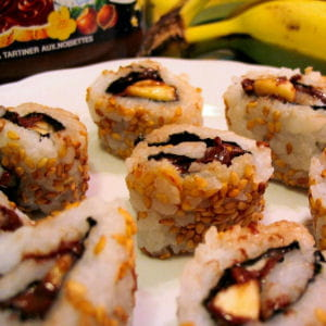 california rolls au nutella