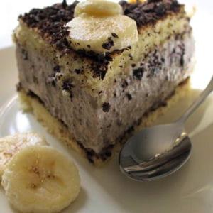 gâteau mousseux à la banane