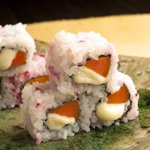maki de carotte et de brie de meaux aop