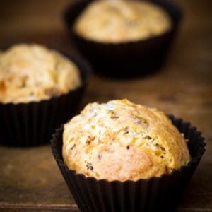 muffins d'époisses aop aux amandes