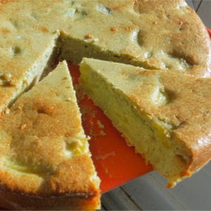 gâteau aux pommes et pistache