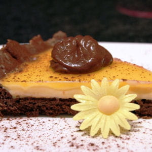 tarte chocolat orange