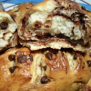 petits pains viennois marbrés aux pépites de chocolat