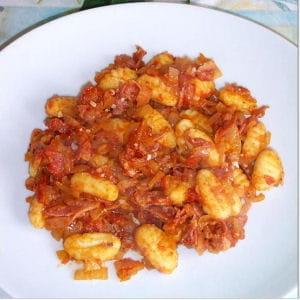 gnocchis à la pancetta