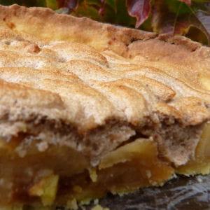 tarte aux pommes meringuées à la crème de marron