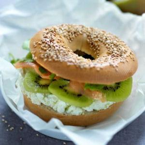 bagel au kiwi de l'adour et saumon fumé