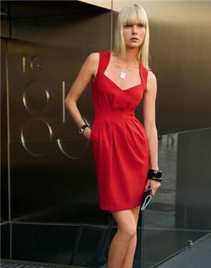 robe rouge des 3 suisses