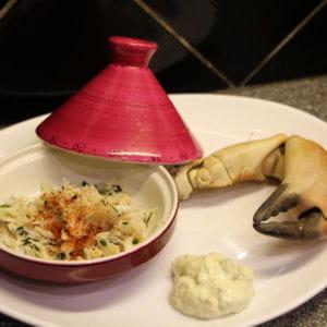 tourteau cuit maison et sa mayo aux asperges