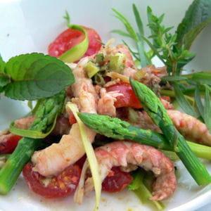 salade de langoustines aux asperges vertes