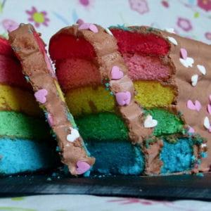 rainbow quatre-quarts et ganache au nutella