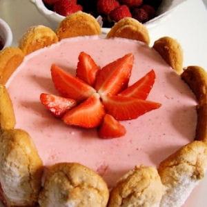 bavarois aux fraises façon charlotte