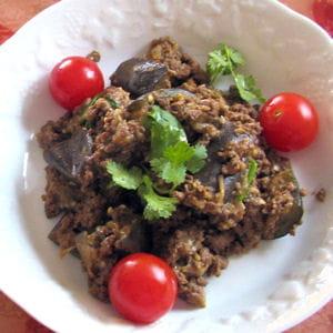 masala bœuf-agneau aux aubergines