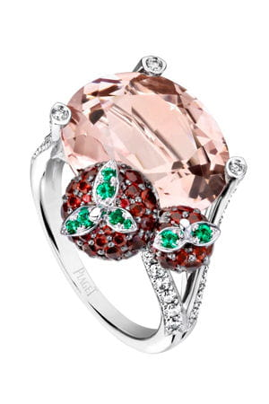 la bague 'inspiration strawberry margarita cocktail' de piaget