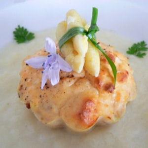 petits flans de saumon aux asperges