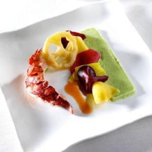 homard à la tomate verte