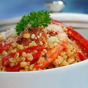 eblysotto aux poivrons rouges et chorizo