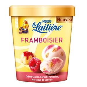 glaces façon framboisier et macaron caramel beurre salé