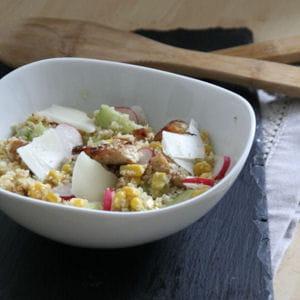 taboulé de boulghour au poulet tandoori