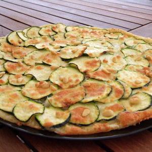 tarte fine aux courgettes et au parmesan