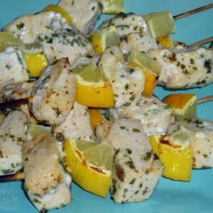 brochettes de thon blanc et citron
