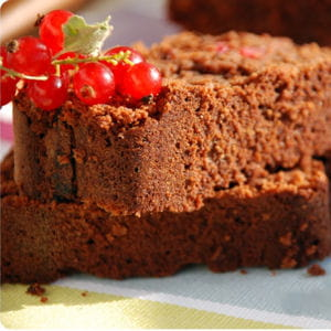 cake chocolat-groseilles