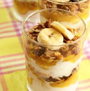 dessert muesli, coco et banane