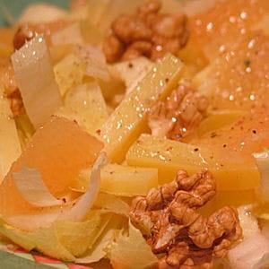 salade endives, noix et pamplemousse