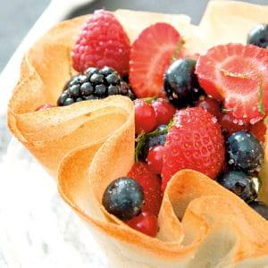 craquants de fruits rouges à la mélisse