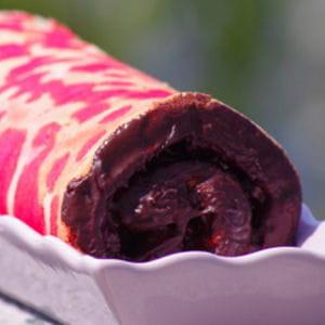 roulé aux cerises et chocolat noir