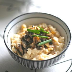 risotto au camembert et champignons de paris