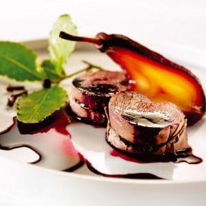 noisettes de chevreuil aux poires