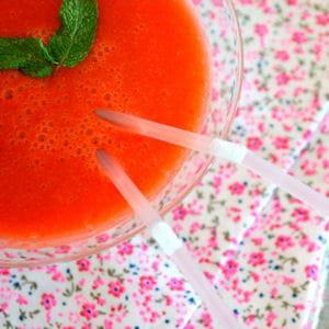 smoothie fraises citron et nectarine