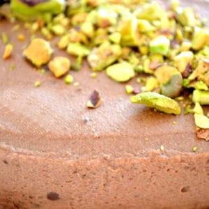 bavarois chocolat et biscuit pistache