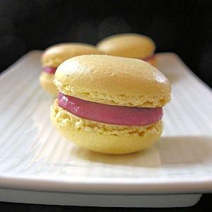 macarons chocolat blanc - framboises