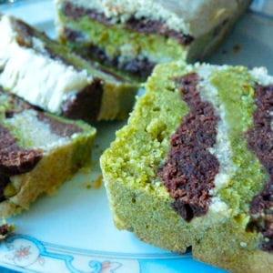 marbré tricolore chocolat-pistache-citron