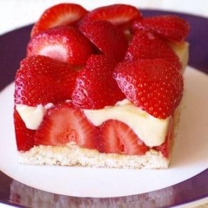 fraisier minute parfumé au thé blanc