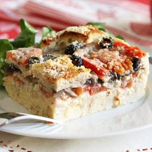 flan aux champignons et aux tomates