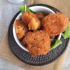 croquettes de potiron et mozzarella au curry