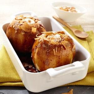 pommes au four et crêpes dentelles