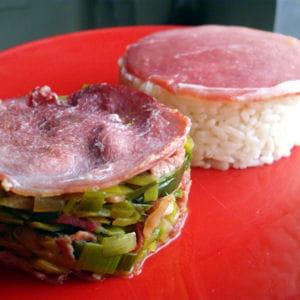 poêlée de poireau au bacon