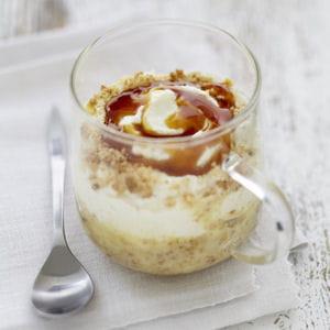 trifle caramel et carré frais