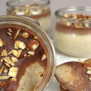 petites crèmes vanille, spéculoos et chocolat