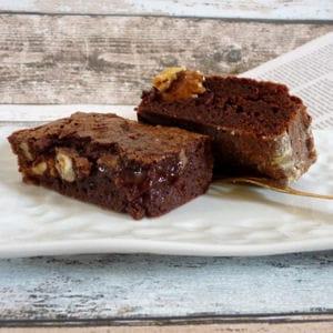brownie aux noix et aux noisettes