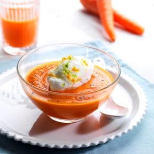 ile flottante revisitée aux carottes à la vanille